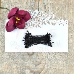 Virág Bibe (fekete, 3mm, 50db)