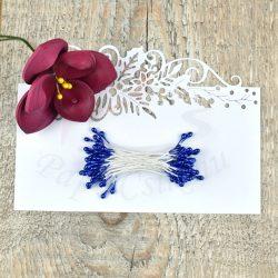 Virág Bibe (kék, 3mm, 50db)