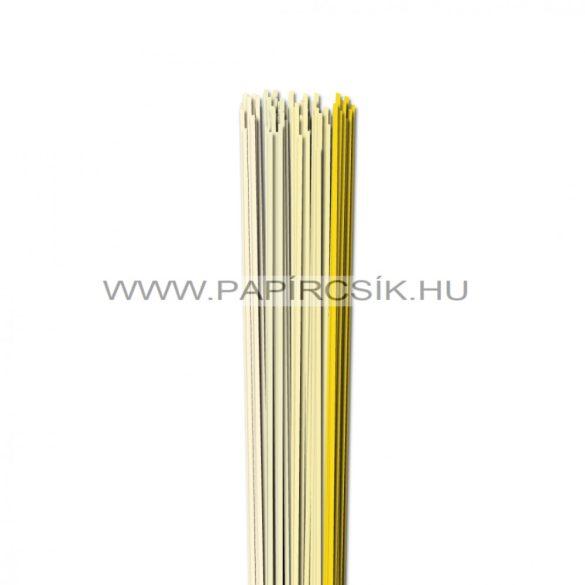 Halványsárga árnyalatok, 2mm-es quilling papírcsík (5x20, 49cm)
