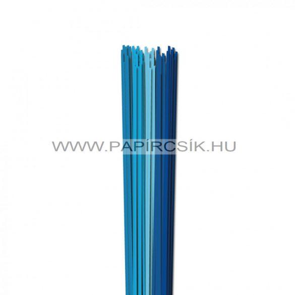 Kék árnyalatok, 2mm-es quilling papírcsík (5x20, 49cm)