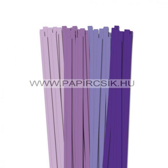 Lila árnyalatok, 10mm-es quilling papírcsík (4x20, 49cm)