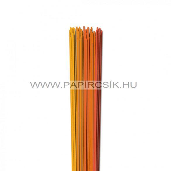 Narancs árnyalatok, 2mm-es quilling papírcsík (5x20, 49cm)