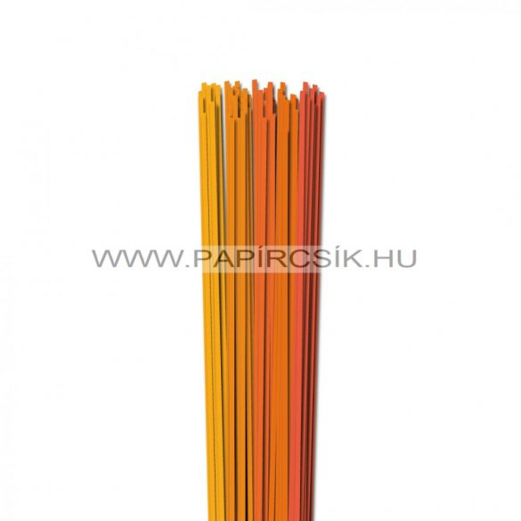 Narancs árnyalatok, 3mm-es quilling papírcsík (5x20, 49cm)