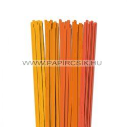 Narancs árnyalatok, 7mm-es quilling papírcsík (5x20, 49cm)