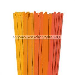 Narancs árnyalatok, 10mm-es quilling papírcsík (5x20, 49cm)