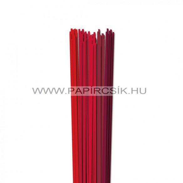 Piros árnyalatok, 3mm-es quilling papírcsík (5x20, 49cm)