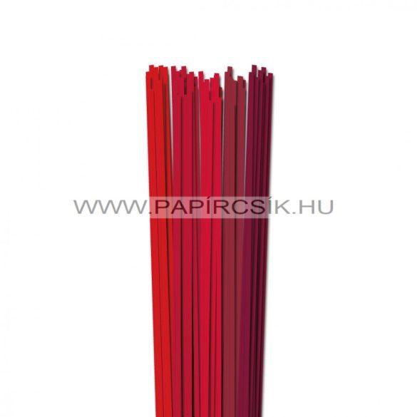 Piros árnyalatok, 4mm-es quilling papírcsík (5x20, 49cm)