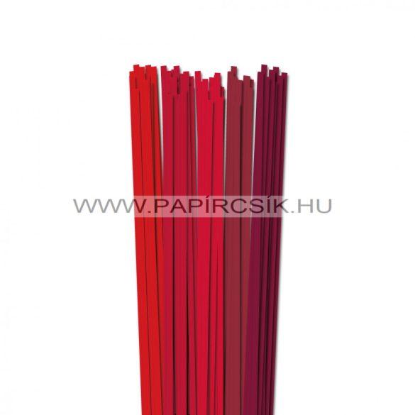 Piros árnyalatok, 5mm-es quilling papírcsík (5x20, 49cm)
