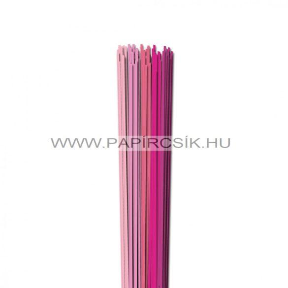 Rózsaszín árnyalatok, 2mm-es quilling papírcsík (5x20, 49cm)