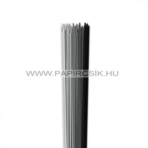 Szürke árnyalatok, 2mm-es quilling papírcsík (5x20, 49cm)