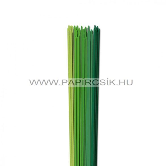 Zöld árnyalatok, 2mm-es quilling papírcsík (5x20, 49cm)