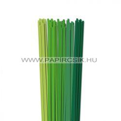 Zöld árnyalatok, 5mm-es quilling papírcsík (5x20, 49cm)