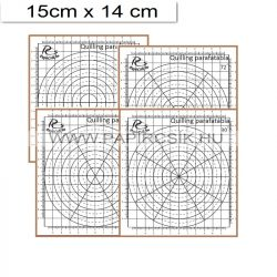 Quilling mini parafatábla, 4db sablonnal (15x14cm)