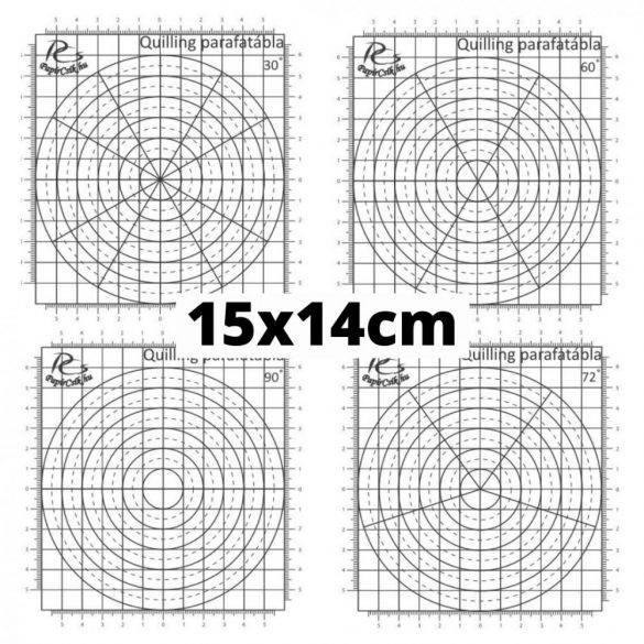 Quilling mini sablon papír - 30 fokos beosztással (1db, 15x14cm)